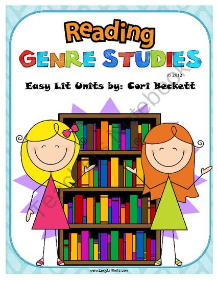 Reading Genre Studies Posters & Book Reports from Easy Lit Units & MORE! on TeachersNotebook.com (57 pages)  - Reading Genre Studies Posters & Book Reports!  50+ pages of over 20 common childrens genres and sub-genre and accompanying book reports ideal for grades 4 - 12.