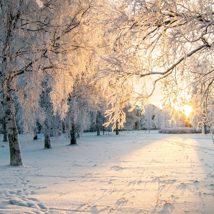 Oulu, Finland during the long winter season.