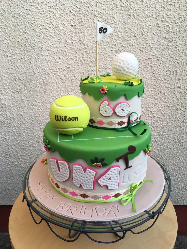 Tennis Golf Birthday Cake