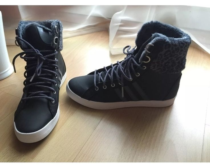 NEUE Adidas Neo Sneaker in coolem Leo-Look in einem schönen dunklen Lila, kombiniert mit Grau!  Größe 40, auch mit 39 gut ...