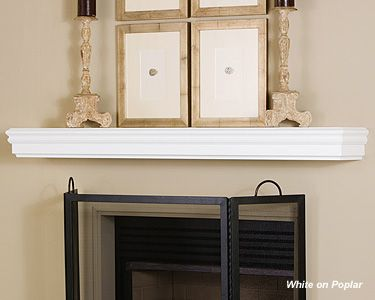 Awesome White Design Fireplace Mantel Shelf Ideas : How To Build A .