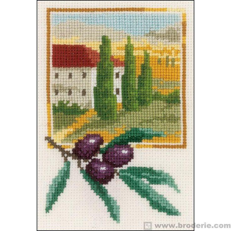 Ricamo Punto Croce Olive toscane Vervaco VE.0144859 - La Casa del Canovaccio e del Ricamo