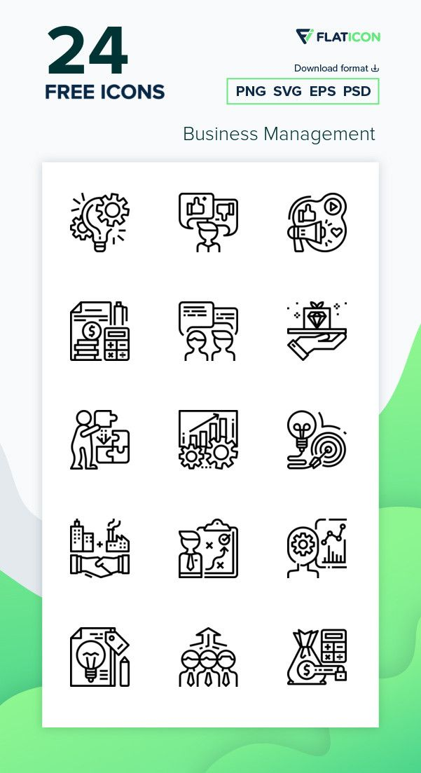 24 Free Vector Icons Of Business Management Designed By Ddara In 2020 Icon Vector Free Free Icon Packs