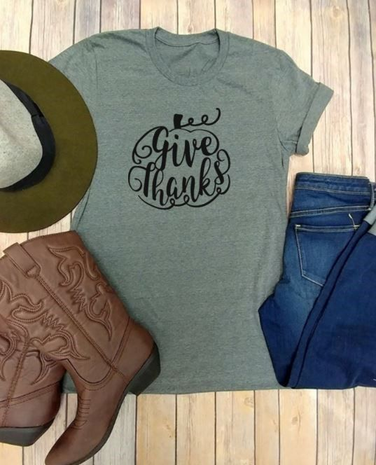 Give Thanks Fall T-Shirts