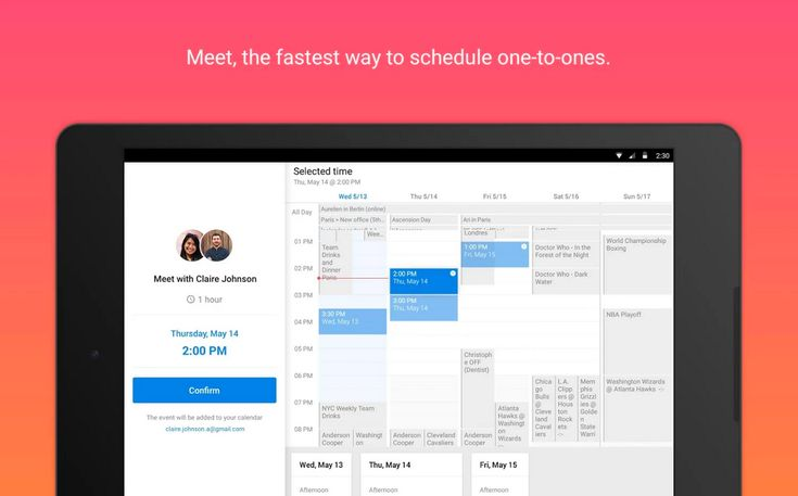 Meet, A New Feature for Easily Scheduling One-on-One Meetings Using the Sunrise Calendar App