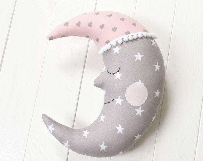 Doccia di cuscino Luna cuscino Crescent Moon cuscino Nursery Decor bambini camera Decor decorativo cuscino bambini cuscino Baby Luna regali bambini biancheria da letto