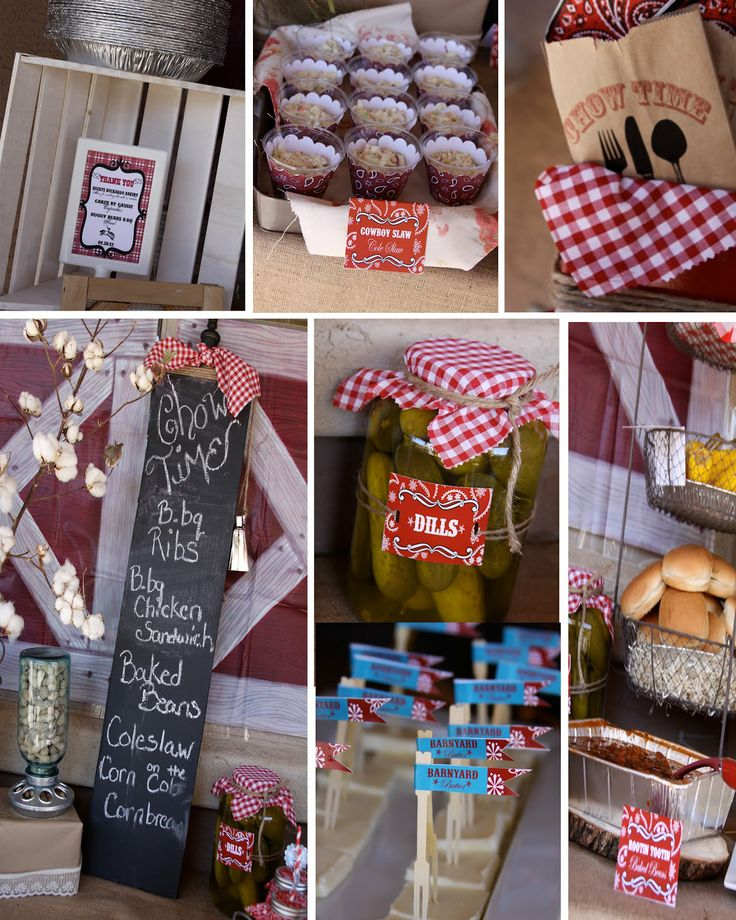 PARTY THEME   COWBOY STAR   Family party   Chow time- western party buffet