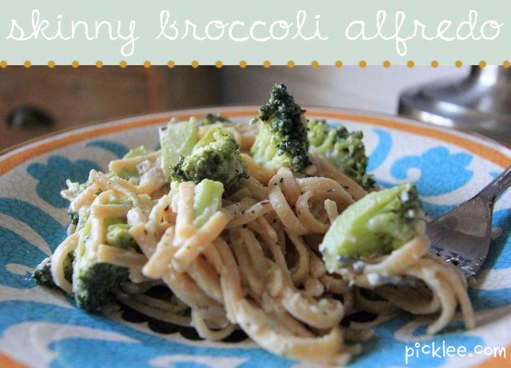 skinny broccoli alfredo