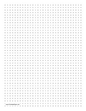 Dot Paper with four dots per inch on letter-sized paper{travel activity book for kids} Paper