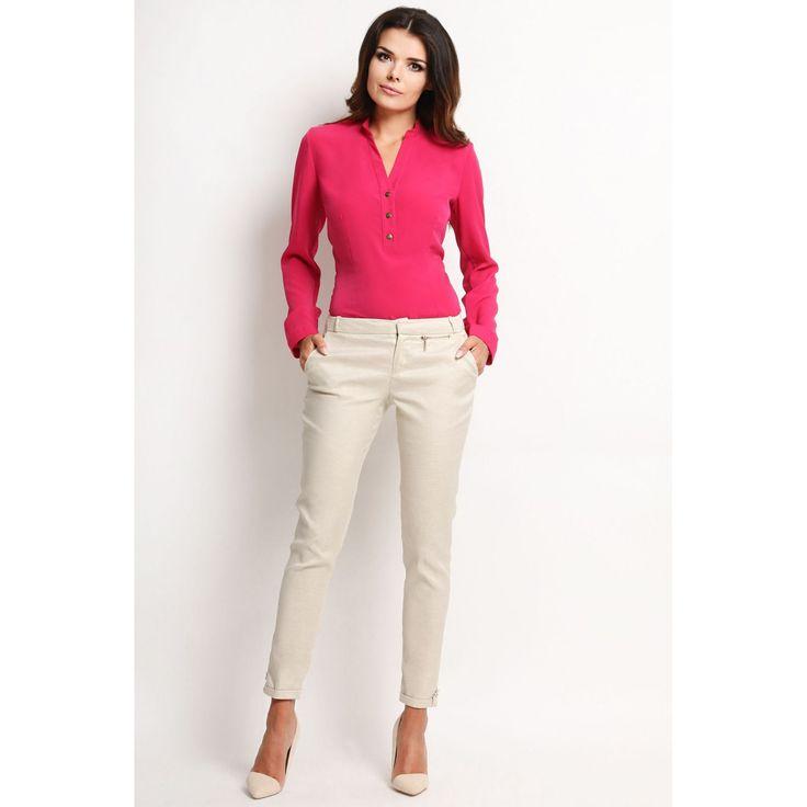 Bluza Awama roz decolteu in V #prettymodaro #bluzadama #bluzaoffice #bluzedama