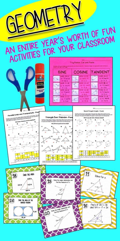 Geometry Mega Bundle Activities And Puzzle Worksheets Geometry