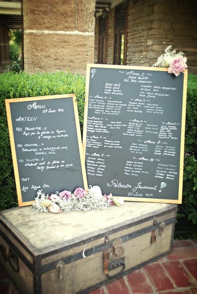 Have a lovely rustic table seating chart. Outdoor weddings with incredible decorations.