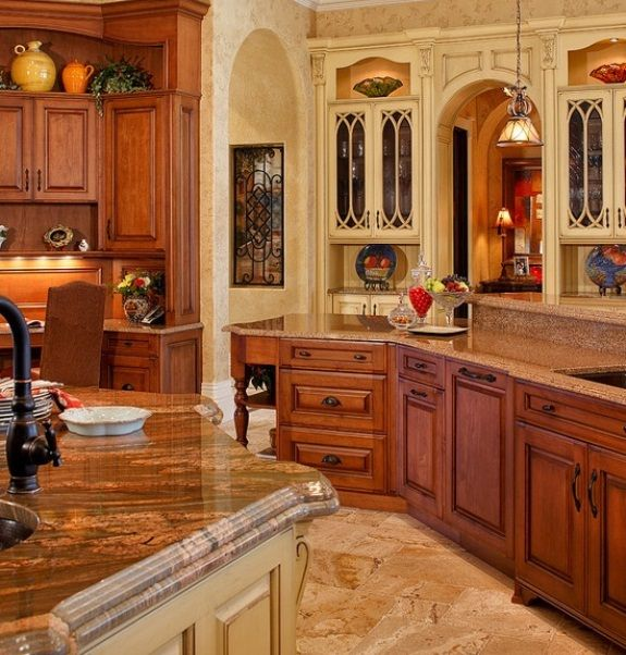 Mediterranean Kitchen Decorating Ideas As Mediterranean Style Kitchen  Curtains With The Placement Of A Nice Design