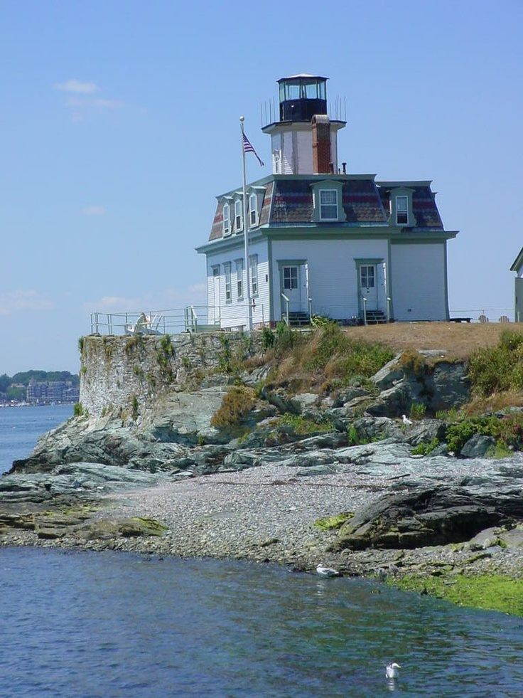 Rose Island Lighthouse; Newport, Rhode Island, also haunted!