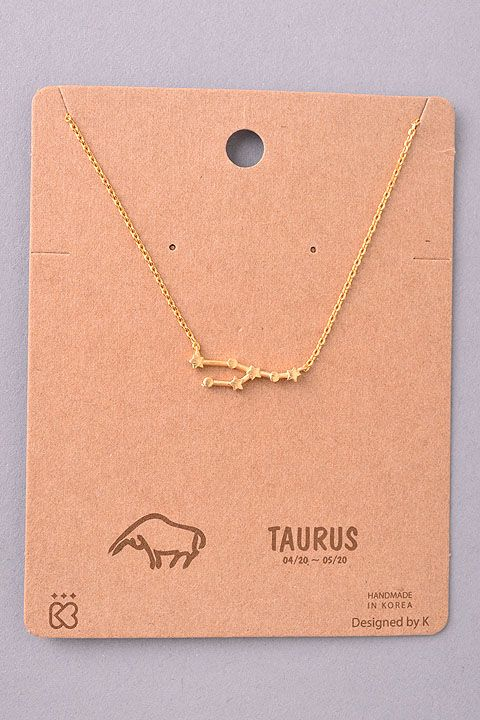 Taurus Constellation Pendant Necklace