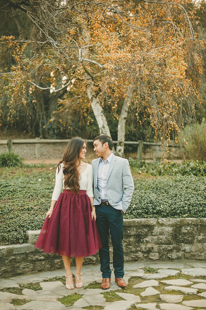whimsical garden engagement | Kristen Booth | Glamour & Grace