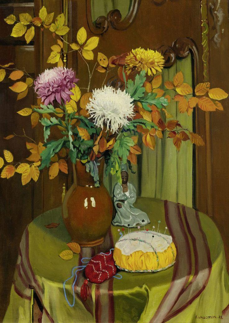 Félix Vallotton (Swiss, 1865-1925),Chrysanthèmes et feuillage d'automne…