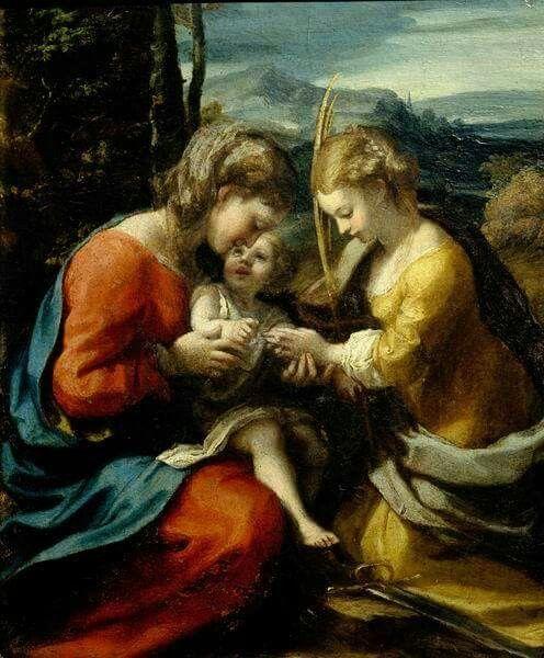 Sposalizio mistico di Santa Caterina. 1520.  Capodimonte