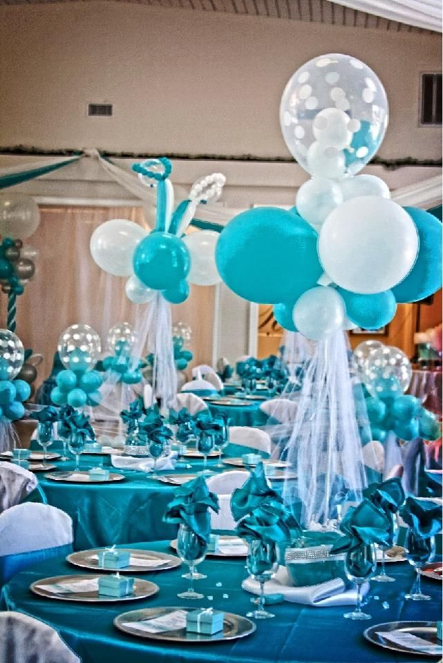 Baby Showers Today ~ Twins co babyshower decorations tiffany inspired