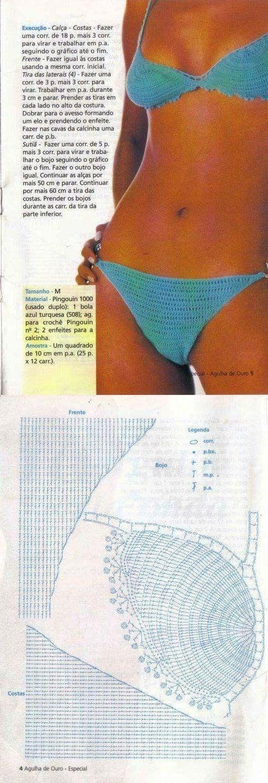 82 best costumi crochet images on Pinterest | Bikini tops, Bikinis ...