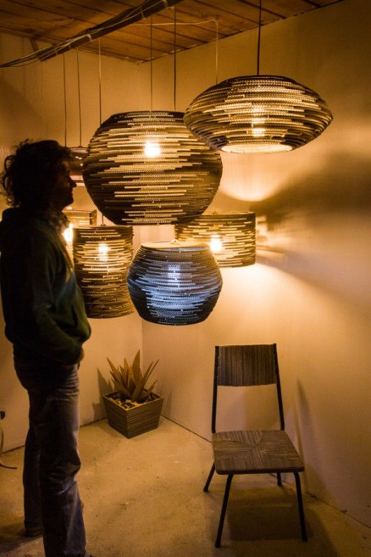 I was working on this project for few weeks. I gathered my lamps in one place to show the dimensions, compare them whit each other and me. Here you have 7