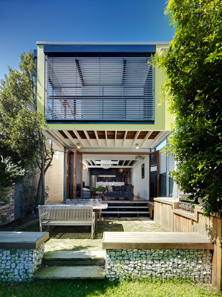 This funky and modern house in Enmore, NSW combines sustainable design and lightweight construction to fit a lot of style into a tight space