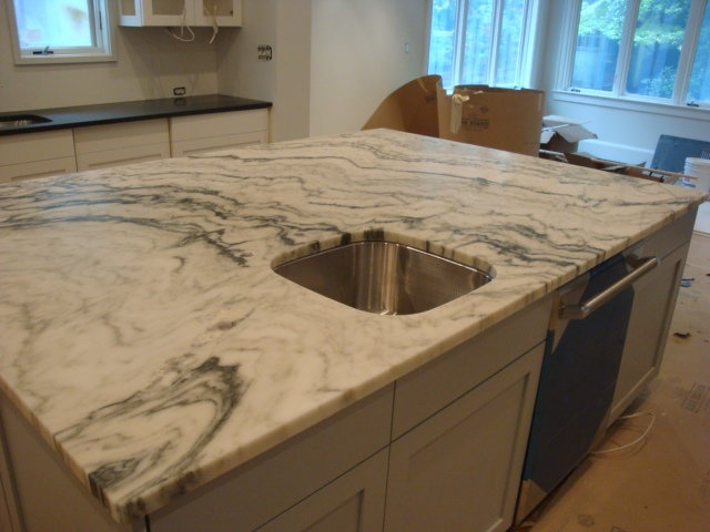 marble kitchen countertop | Kitchens and Bathrooms | Pinterest