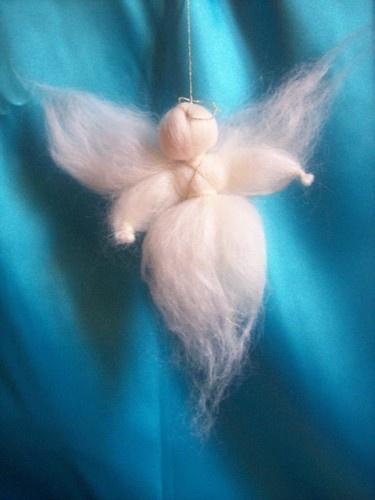 tutorial per fare un angelo di lana cardata