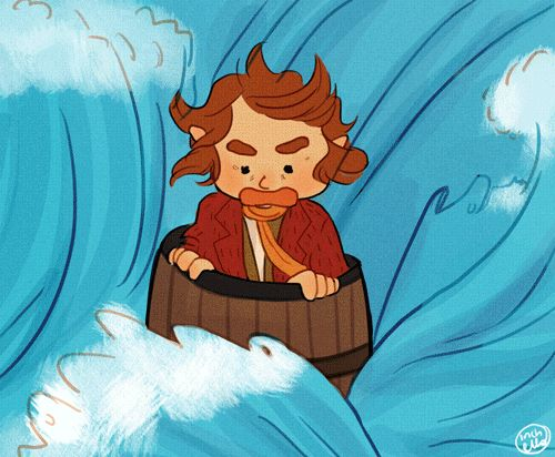 "A summary of Bilbo's adventures in ""The Hobbit: The Desolation of Smaug. Now that is just adorable."