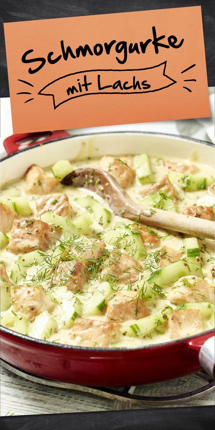 Ein Rezept für Sommertage ist diese Schmorgurkenpfanne mit Lachs. In nur 30 Minuten steht dein frisch gekochtes Gericht am Tisch und kann von dir verkostet werden. Für alle Fischliebhaber und solche,  (Sweet Recipes Bars)