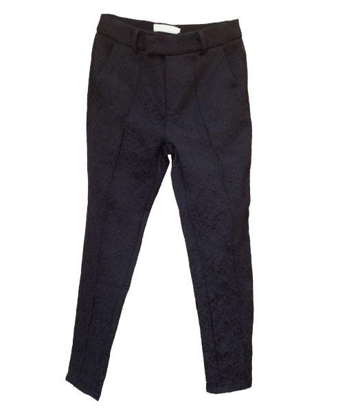Retro Jacquard Crop Pants