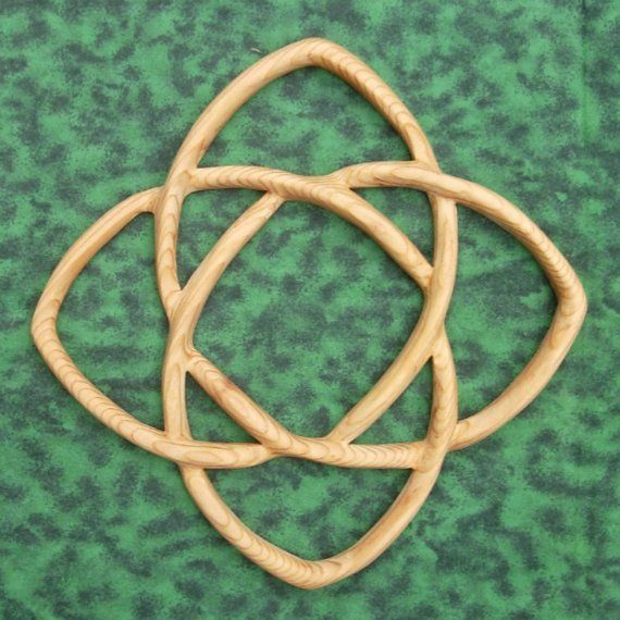 Knot of Healing - Health Wellness Wood Carved Celtic Knot