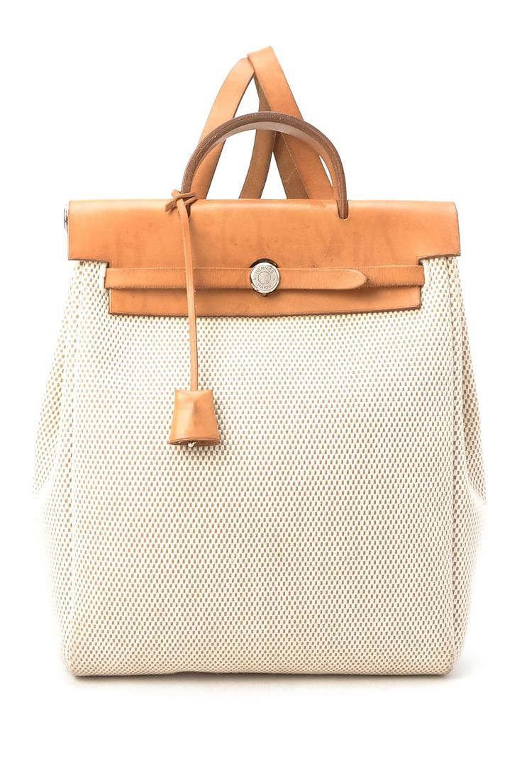 Vintage Hermes Cotton Herbag A Dos GM Backpack (Stamp: Square G ...
