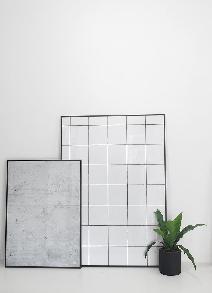 The Minimalist x Concrete and tiles prints