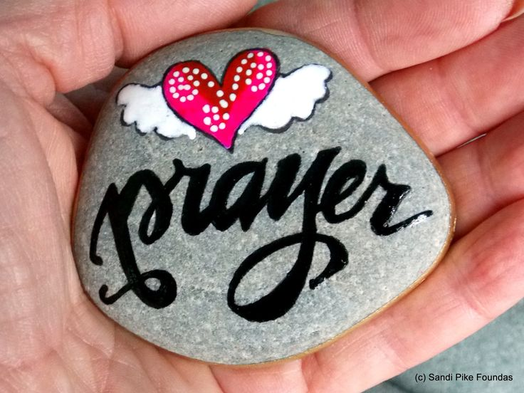 a wing and a prayer / painted rocks / painted stones / rock art / winged hearts / prayer / believe / sea stones / alter art / get well / by LoveFromCapeCod on Etsy