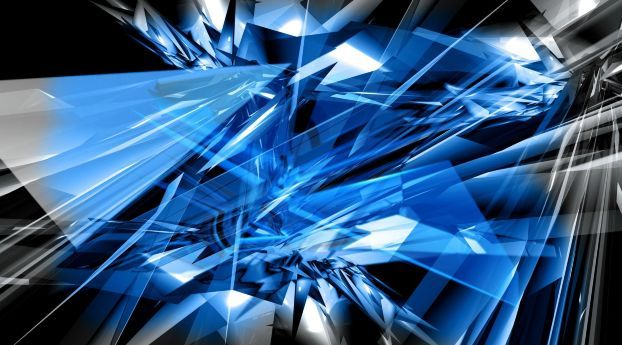 Rays Light Shadow Cool Blue Wallpaper Abstract Wallpaper Abstract