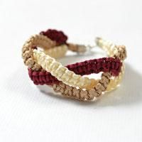 This is a tutorial on how to make thread friendship bracelets. With nylon threads in 3 colors prepare, let's begin our square knot bracelet instructions.