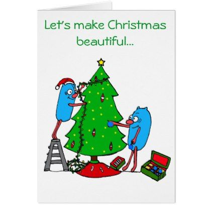 Christmas Beautiful for Autism Charities Card - merry christmas diy xmas present gift idea family holidays
