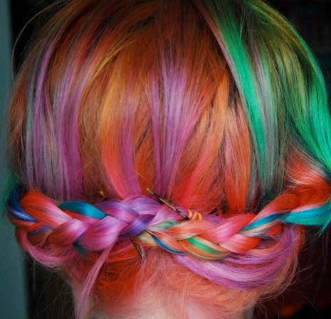 VIBRANT Rainbow Ombre Human Remy Hair Extensions by CupcakeHair,