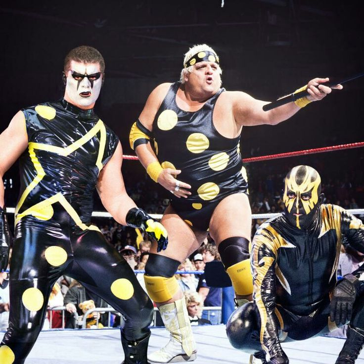Dusty Rhodes with his sons Goldust and Stardust