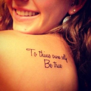 And always remember Polonius� wise advice. | 21 Tattoos Only Shakespeare Fans Will Really Understand