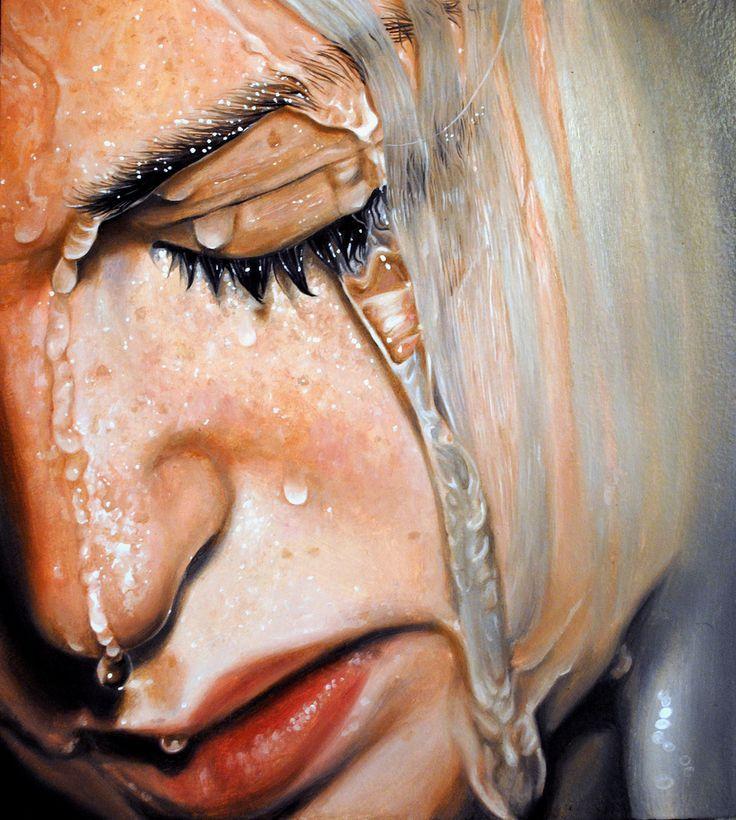 """Tear me apart"" - Linnea Strid {#hyperreal woman portrait}"