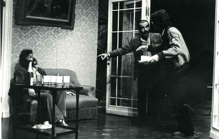 "During ""Hedda Gabler"" rehearsals with Massimo Castri on stage"