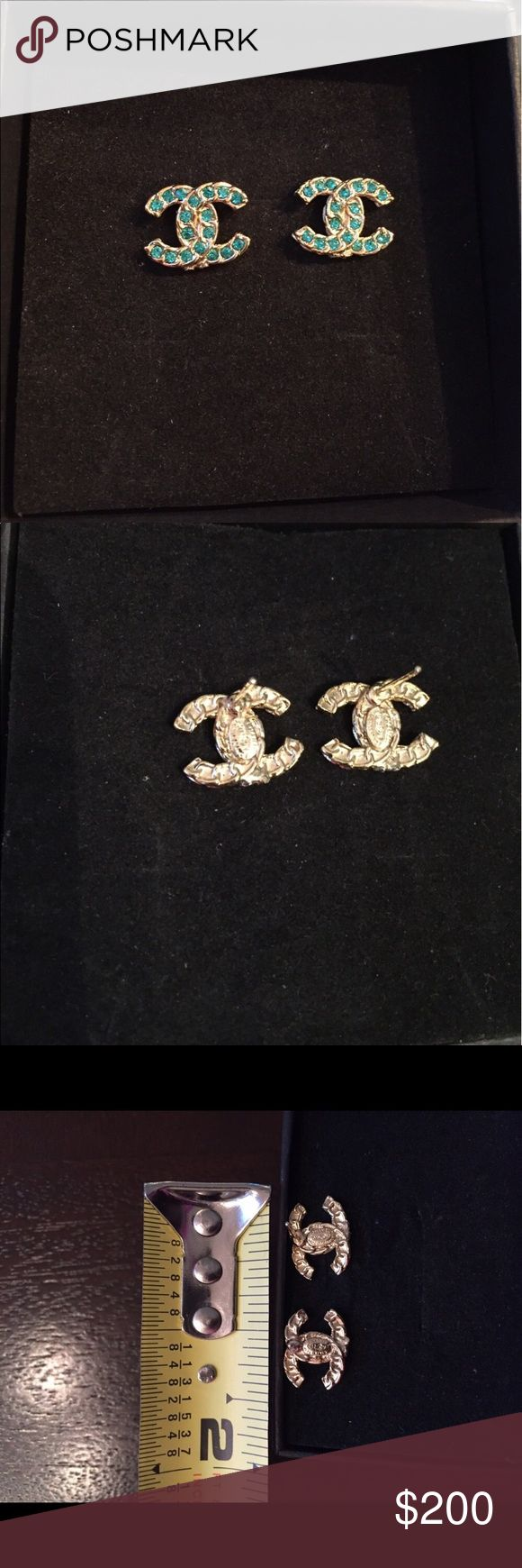 Chanel Stud Earrings I got these from a friend and turns out they are not the real deal. Comes with earring backs and box. The are very petite on the ear. CHANEL Accessories