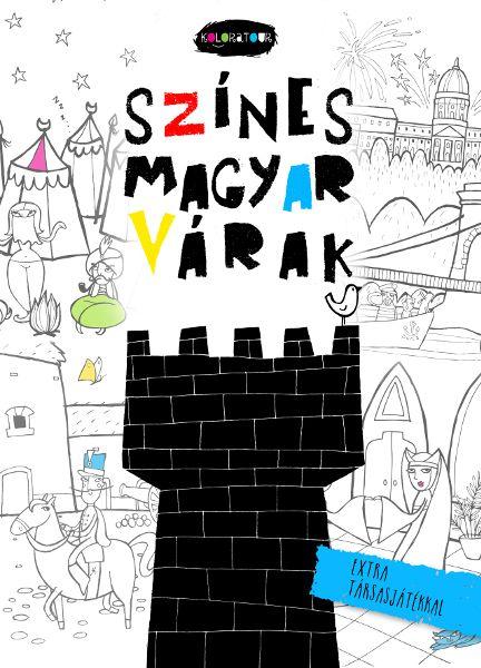 Színes magyar várak - kifestőfüzet