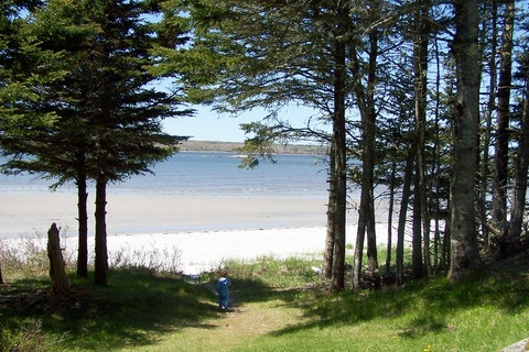 Here is the beach for the Joli House - a beautiful sandy beach in Nova Scotia