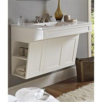"Fairmont Designs Shaker 36"" Wall Mount ADA Vanity - Polar White 