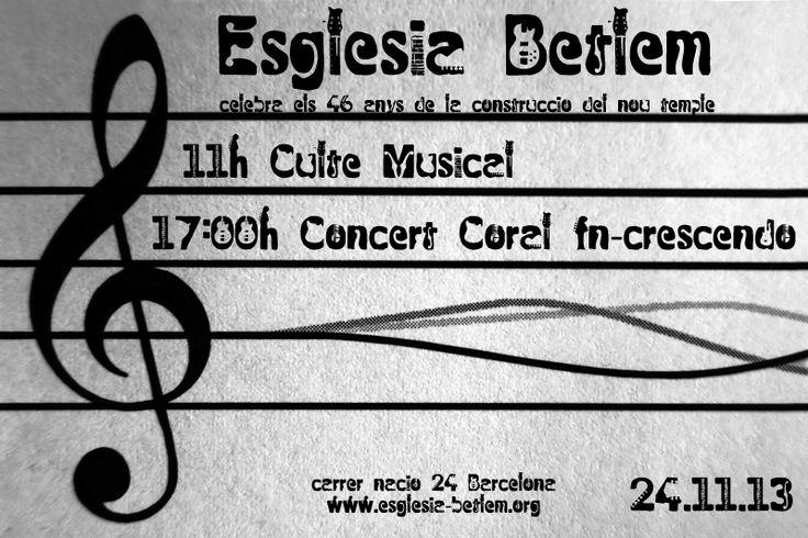 Culto Musical de Alabanza y concierto de la coral In-Crescendo para celebrar los 46 años de la construcción del nuevo templo ¡Te esperamos!