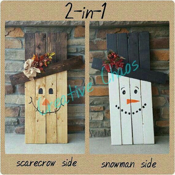 Snowman & scarecrow