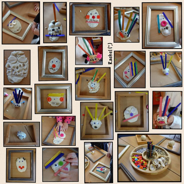 "Play dough 'portraits' from Rachel ("",)"